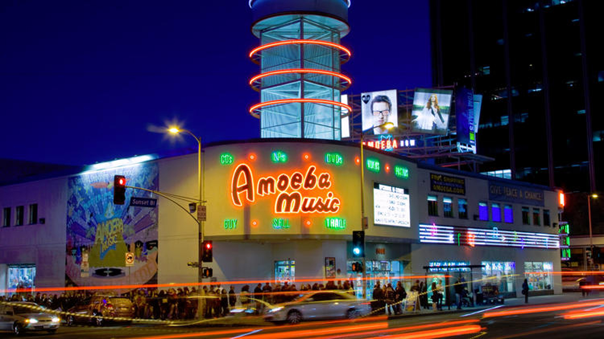 Amoeba Music on Sunset Boulevard is seen on Dec. 8, 2011. (Credit: Ricardo DeAratanha / Los Angeles Times)