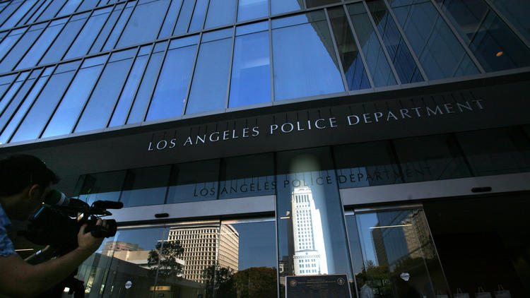 The Los Angeles Police Headquarters is shown in a file photo. (Credit: Bob Chamberlin / Los Angeles Times)
