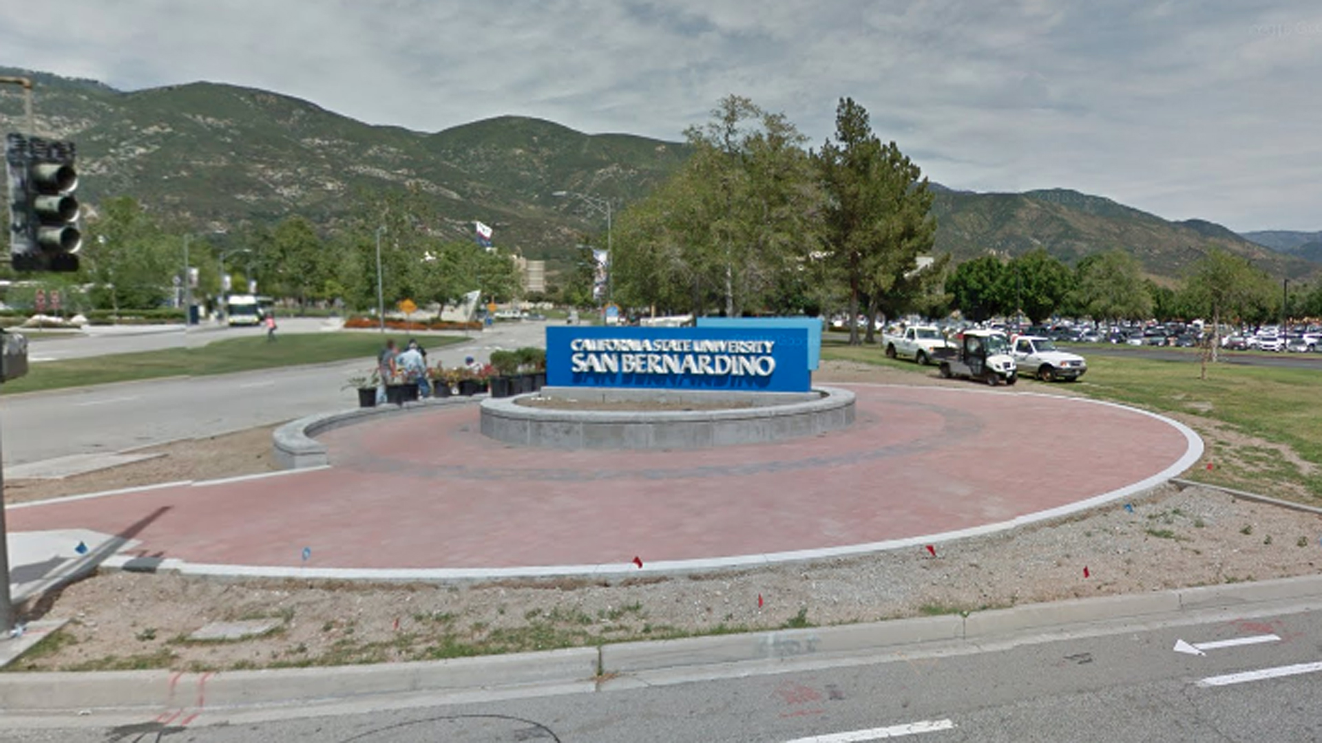 The California State University San Bernardino campus is seen in this Google Maps Street View image.