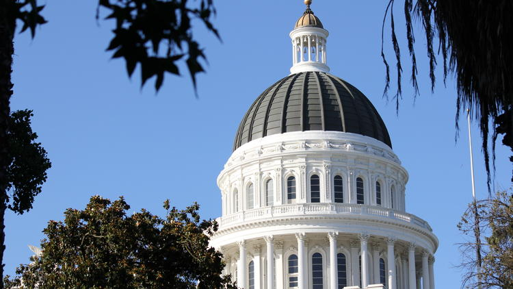 The California state Capitol building in Sacramento is seen in a file photo. (Credit: Los Angeles Times)