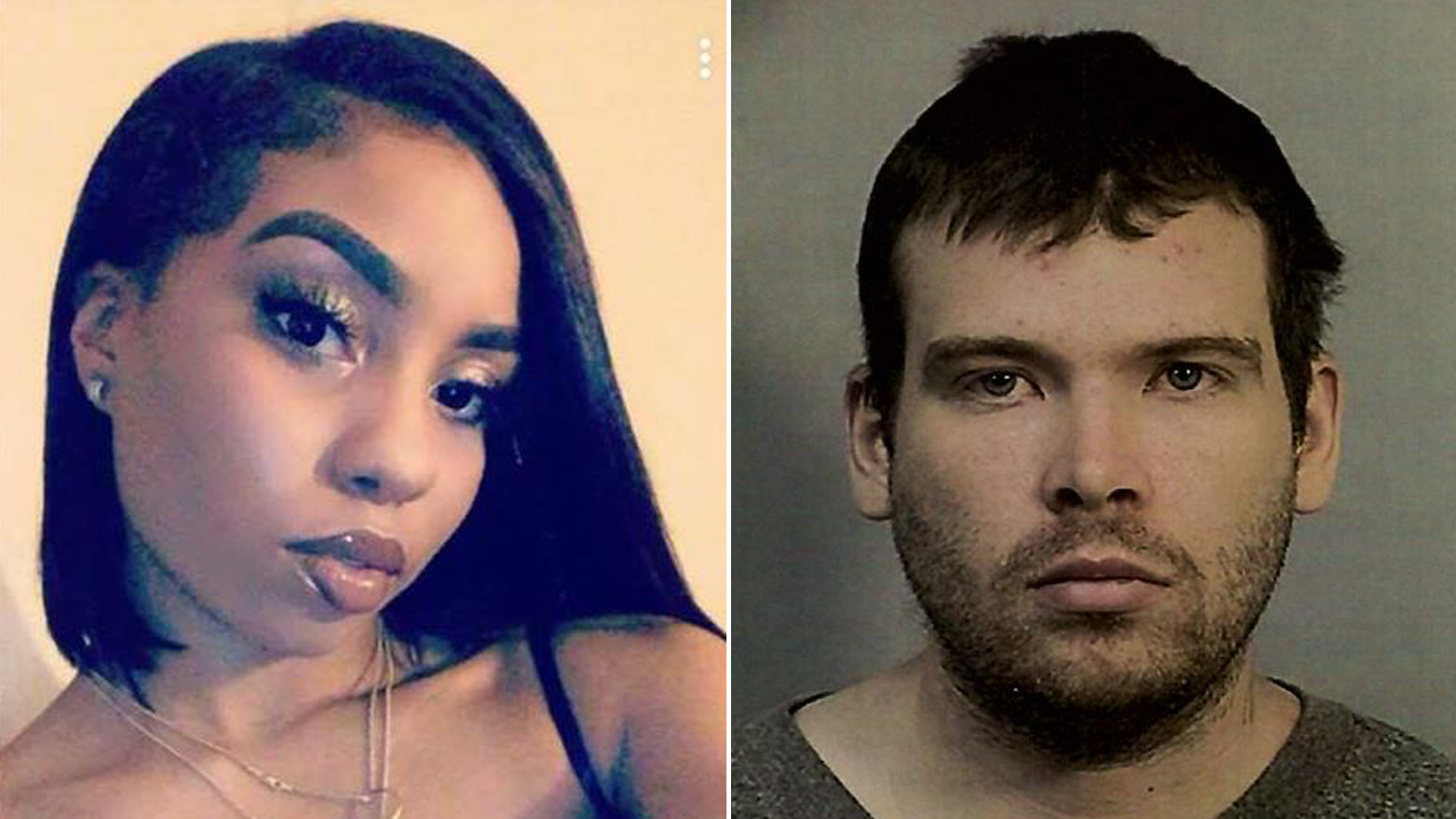 Nia Wilson, left, is seen in an image uploaded to her Facebook page in December 2017. At right, John Lee Cowell is seen in a booking photo released July 23, 2018, by BART police.