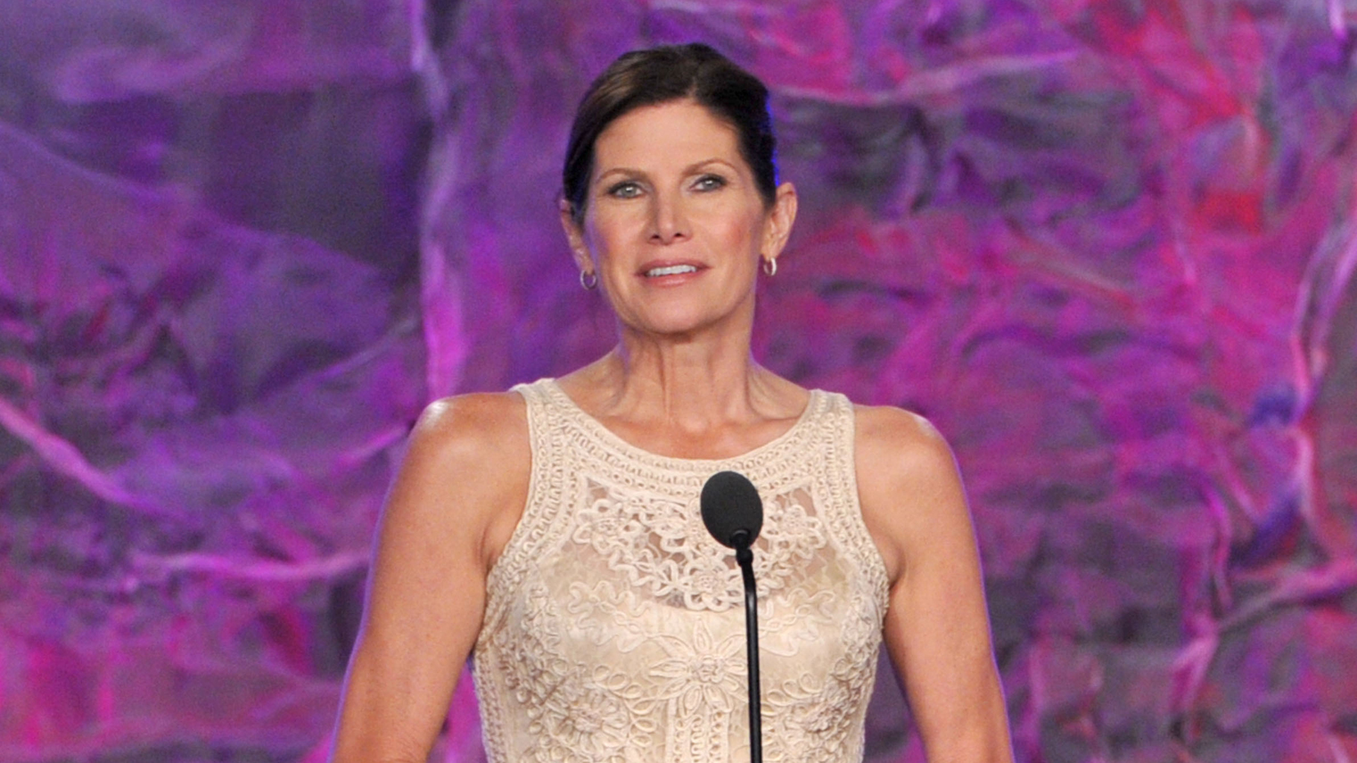 Former Rep. Mary Bono Mack speaks onstage at the 23rd Annual GLAAD Media Awards presented by Ketel One and Wells Fargo held at Westin Bonaventure Hotel on April 21, 2012 in Los Angeles, California. (Credit: Kevin Winter/Getty Images for GLAAD)