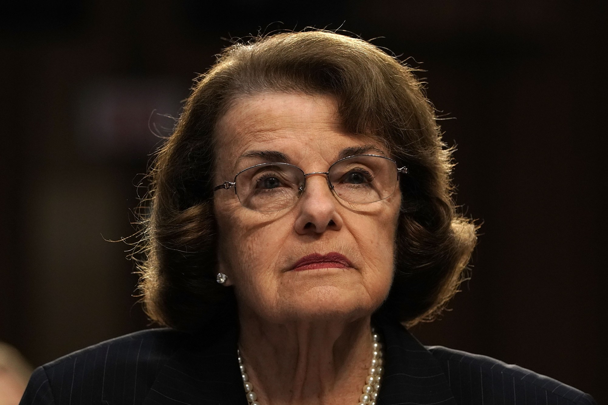 Sen. Dianne Feinstein testifies during a hearing before a Senate subcommittee on Capitol Hill, July 24, 2018. (Credit: Alex Wong / Getty Images)