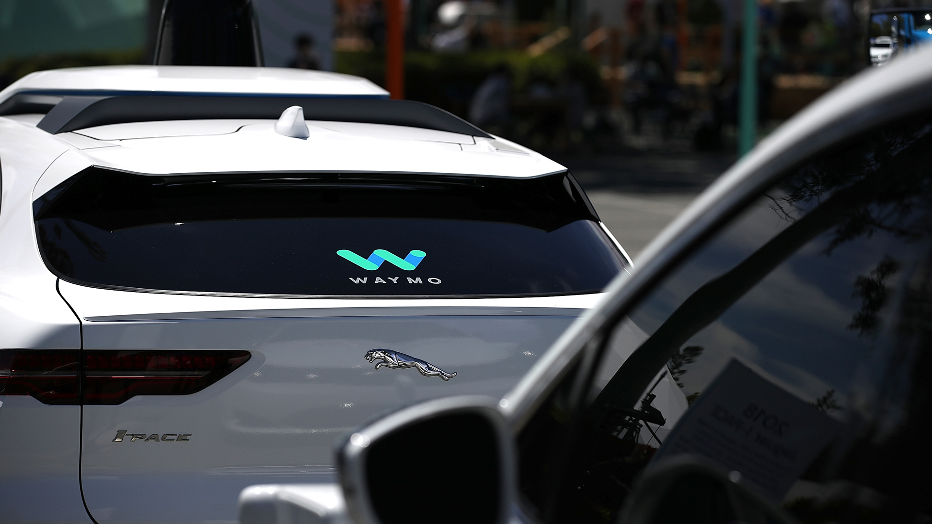 Waymo self-driving vehicles are displayed at the Google I/O 2018 Conference at Shoreline Amphitheater on May 8, 2018, in Mountain View, Calif. (Credit: Justin Sullivan/Getty Images)