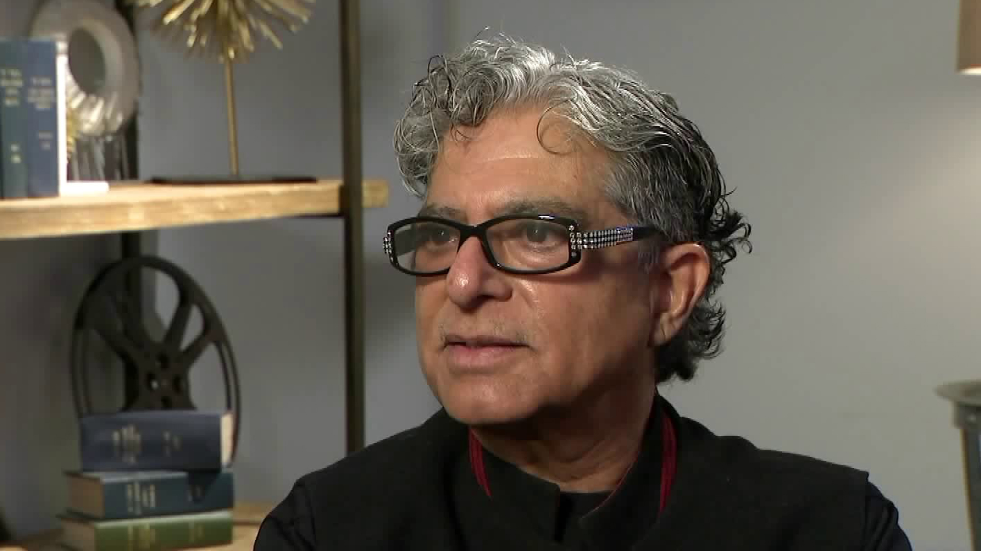 Deepak Chopra speaks with Christina Pascucci for the KTLA 5 News on Nov. 20, 2018. (Credit: KTLA)