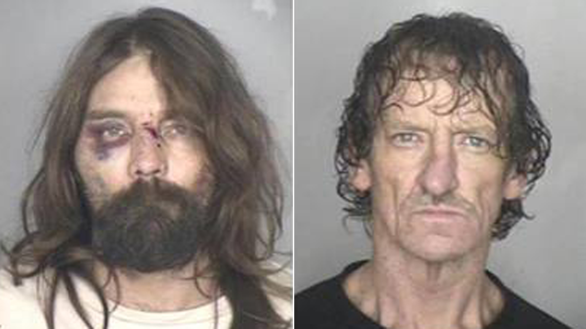 Kenneth Wayne Zimmerman and David Eugene Blood are seen in booking photos released by the Butte County Sheriff's Office on Jan. 29, 2019.