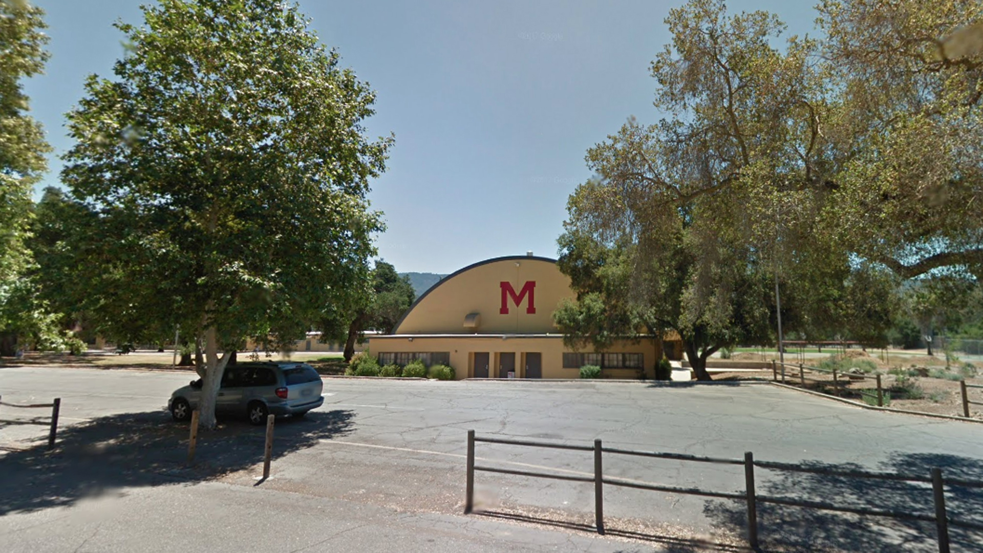 Matilija Junior High School is shown in a Street View image from Google Maps.