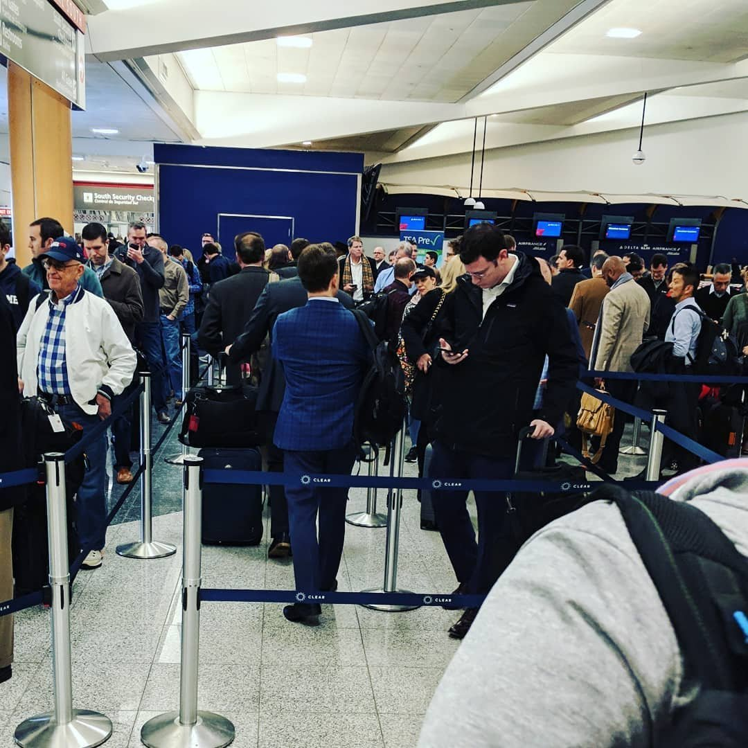 Some travelers waited in security lines for more than two hours at Atlanta's Hartsfield-Jackson International Airport on Monday. The government shutdown has led to increased absences among TSA workers nationwide, putting a strain on airport checkpoints. (Credit: CNN)