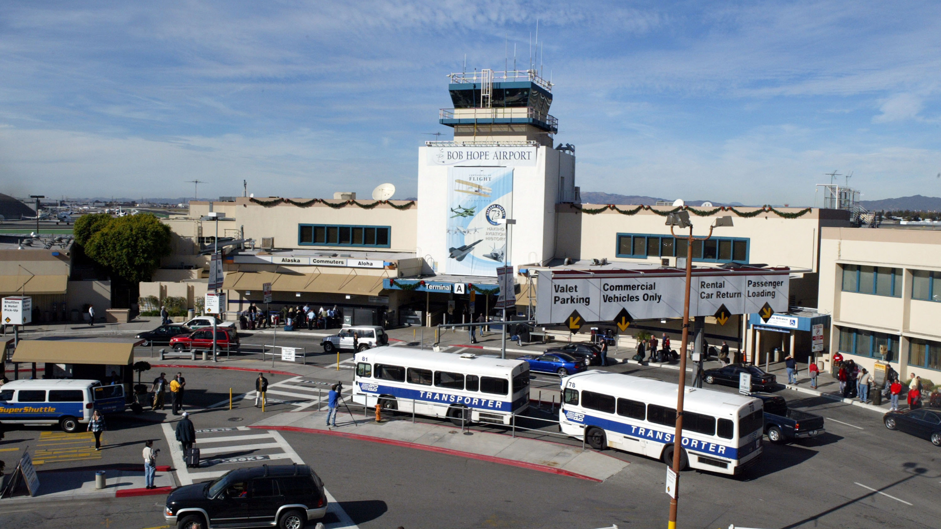 The Hollywood Burbank Airport is seen in a file photo from 2003. (Credit: Frazer Harrison/Getty Images)