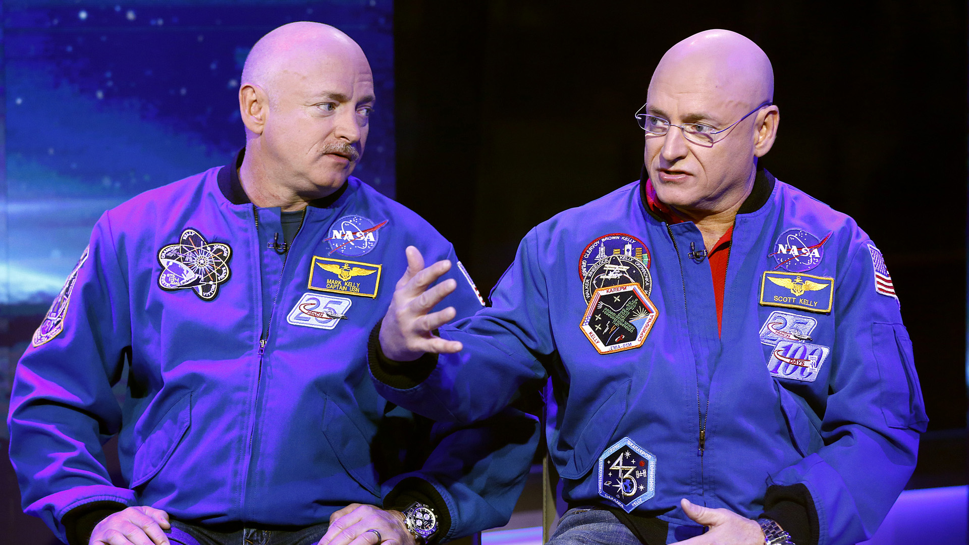 """Mark Kelly (left) and Scott Kelly appear on NBC News' """"Today"""" show. (Credit: Peter Kramer/NBC/NBC NewsWire via Getty Images)"""