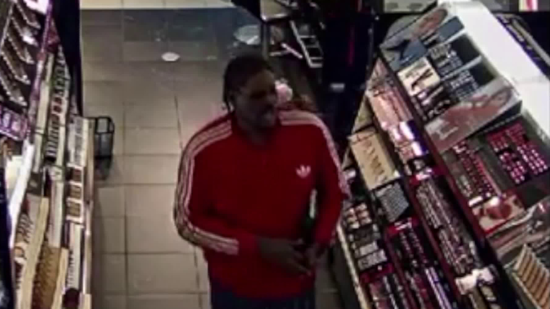 L.A. police released this surveillance image of one of the suspected thieves targeting high-end beauty stores.