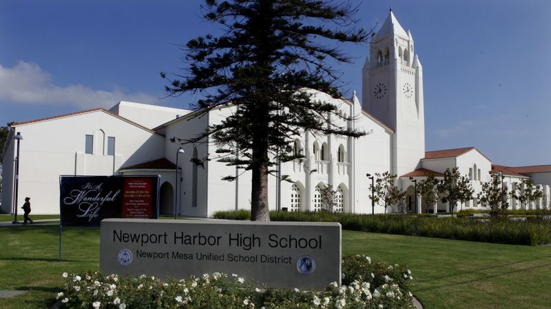 The campus of Newport Harbor High School in Newport Beach is seen in November 2012. (Mark Boster/Los Angeles Times)