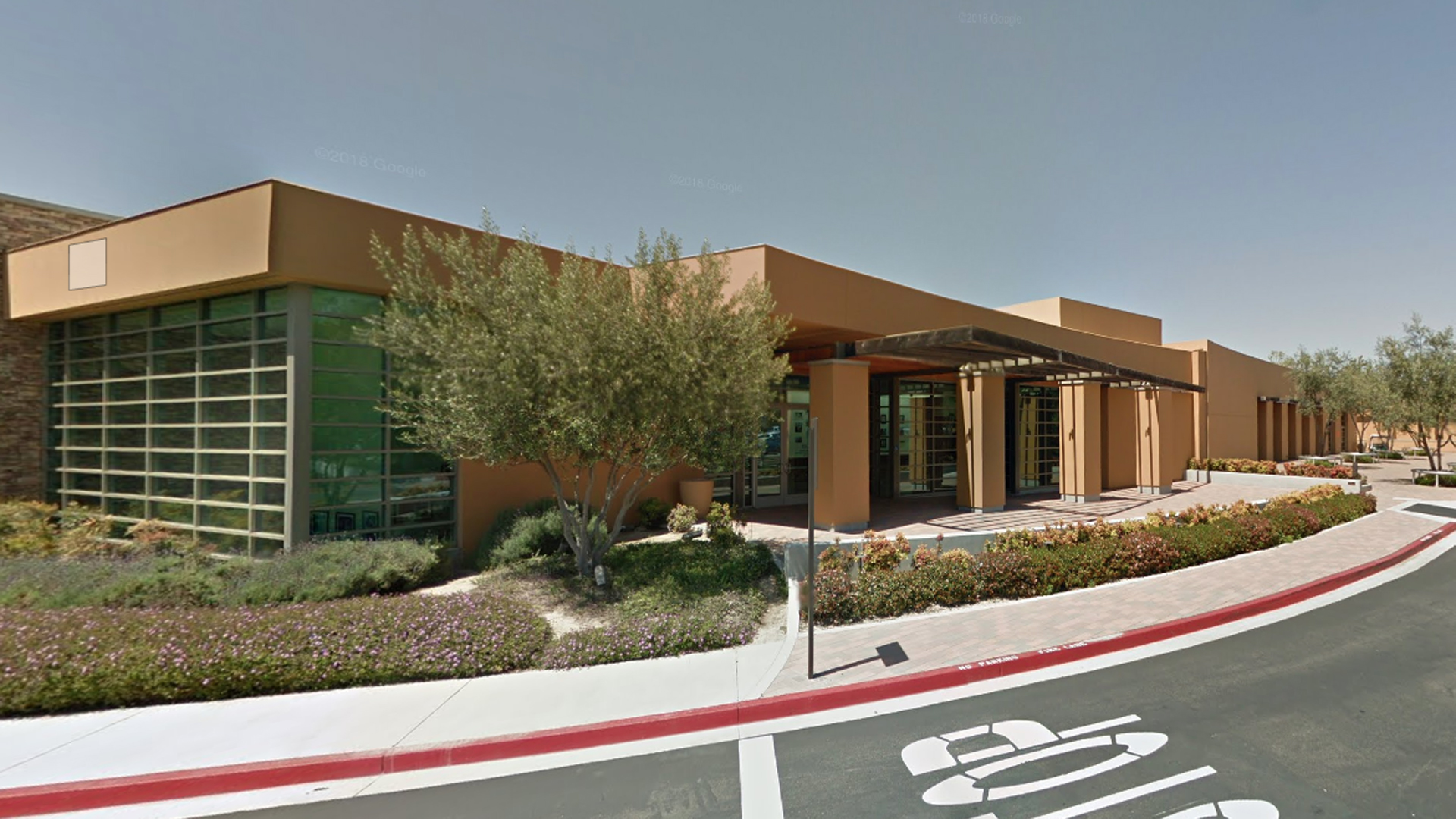 The Sage Hill School in Newport Beach is seen in a Google Maps Street View image from April 2015.