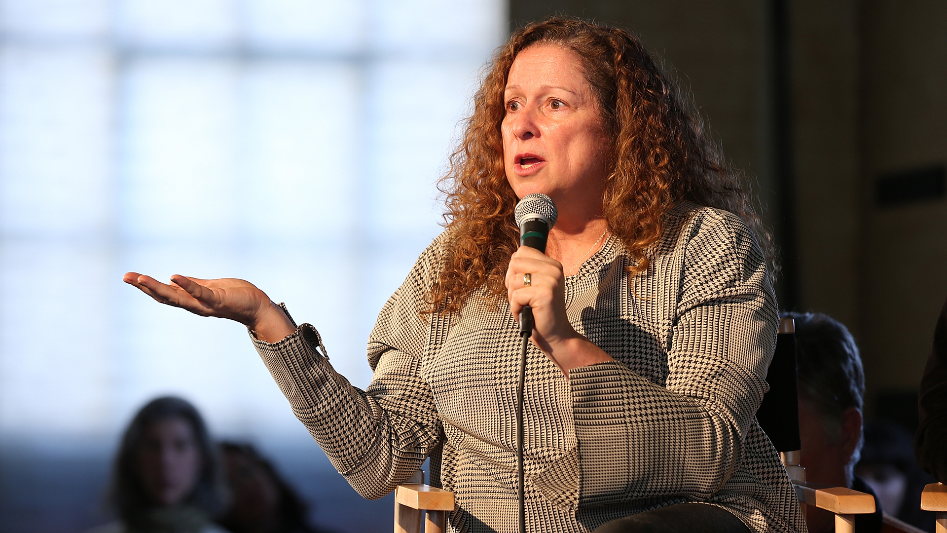 Abigail Disney speaks onstage at The Sundance Institute, Refinery29, and DOVE Chocolate Present 2018 Women at Sundance Brunch at The Shop on January 22, 2018 in Park City, Utah. (Credit: Phillip Faraone/Getty Images for Refinery29)