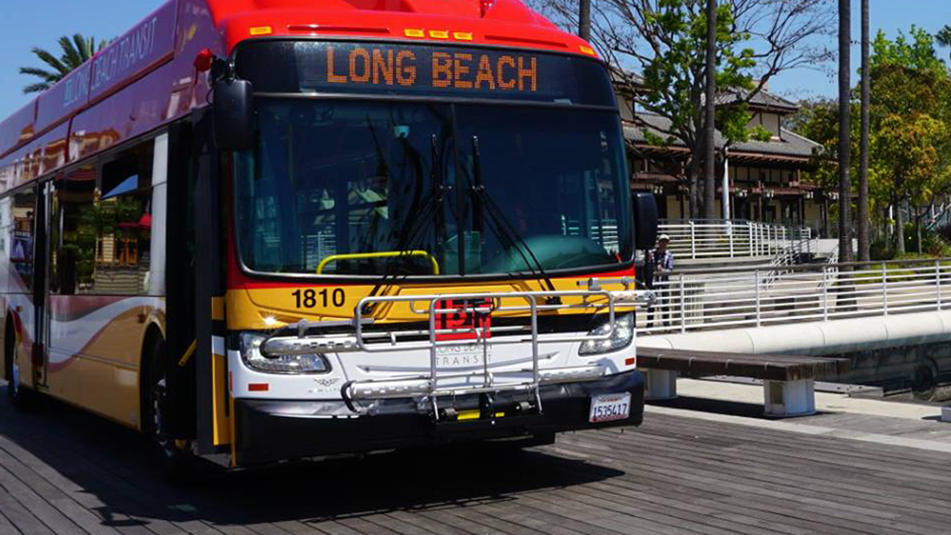 A Long Beach Transit bus is seen in a photo posted to the agency's Facebook page in June 2018.