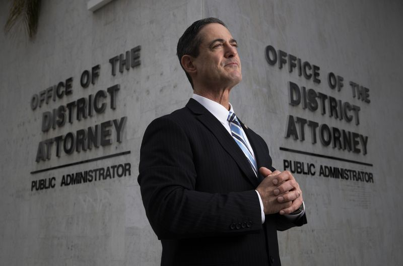 Todd Spitzer appears at the Orange County District Attorney's Officer in an undated photo. (Credit: Allen J. Schaben / Los Angeles Times)
