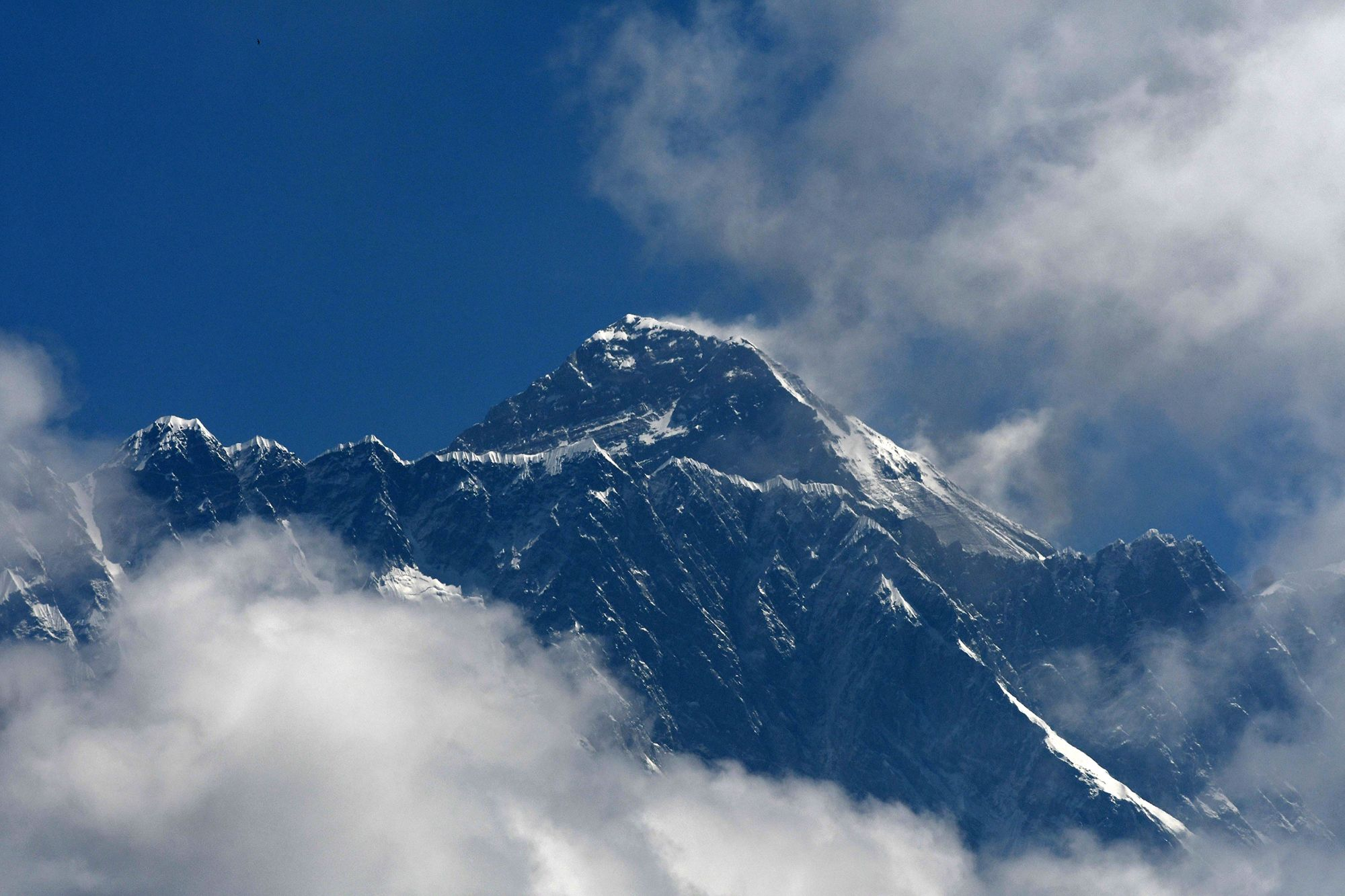 Mount Everest is seen northeast of Kathmandu on May 27, 2019. (Credit: Prakash Mathema / AFP / Getty Images)