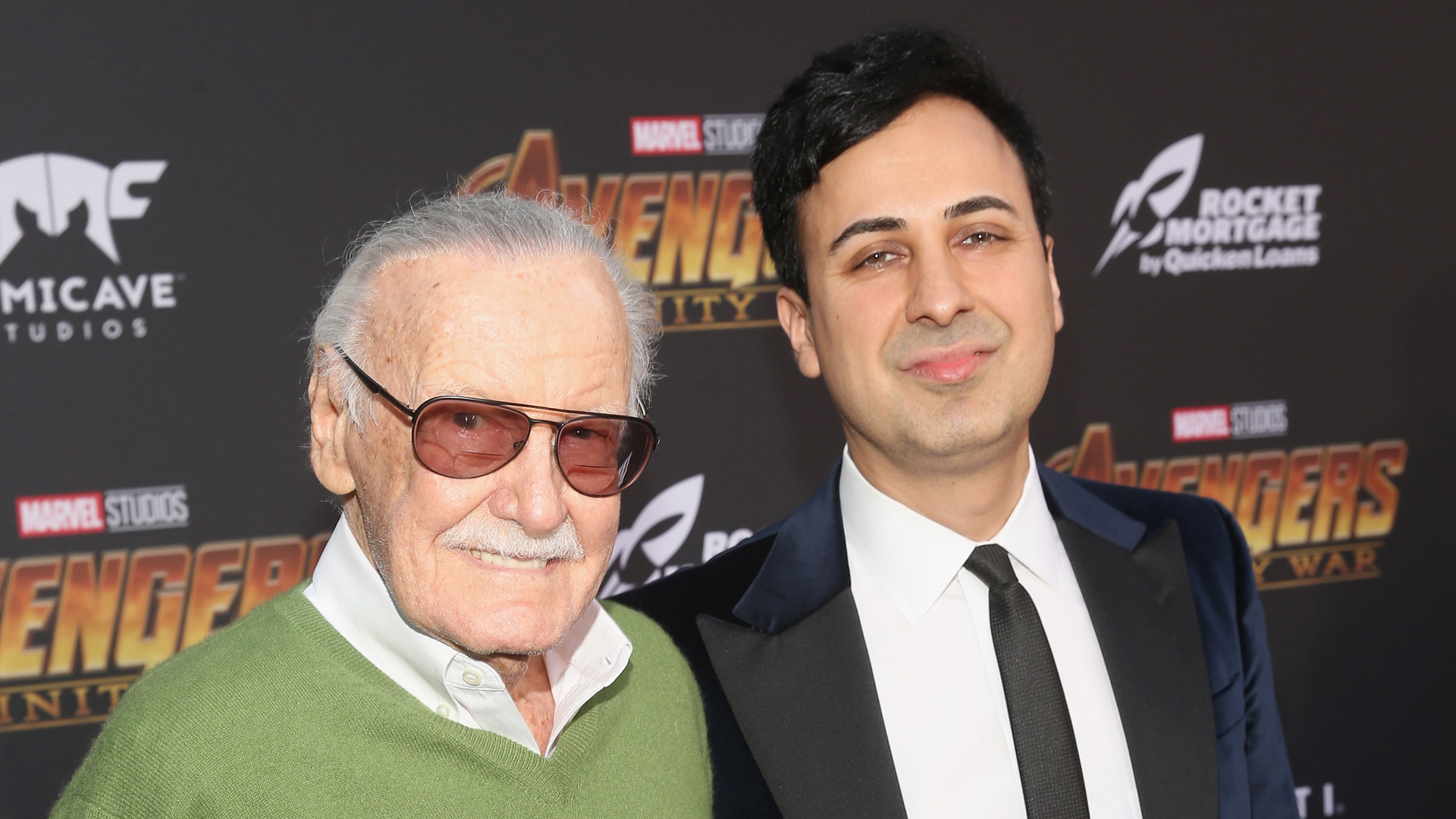 Stan Lee and Keya Morgan attend the Los Angeles Premiere of Avengers: Infinity War on April 23, 2018, in Hollywood. (Credit: Jesse Grant/Getty Images for Disney)