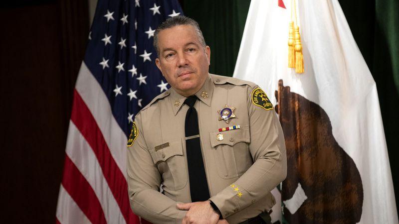 Los Angeles County Sheriff Alex Villanueva is seen in an undated photo. (Allen J. Schaben / Los Angeles Times)