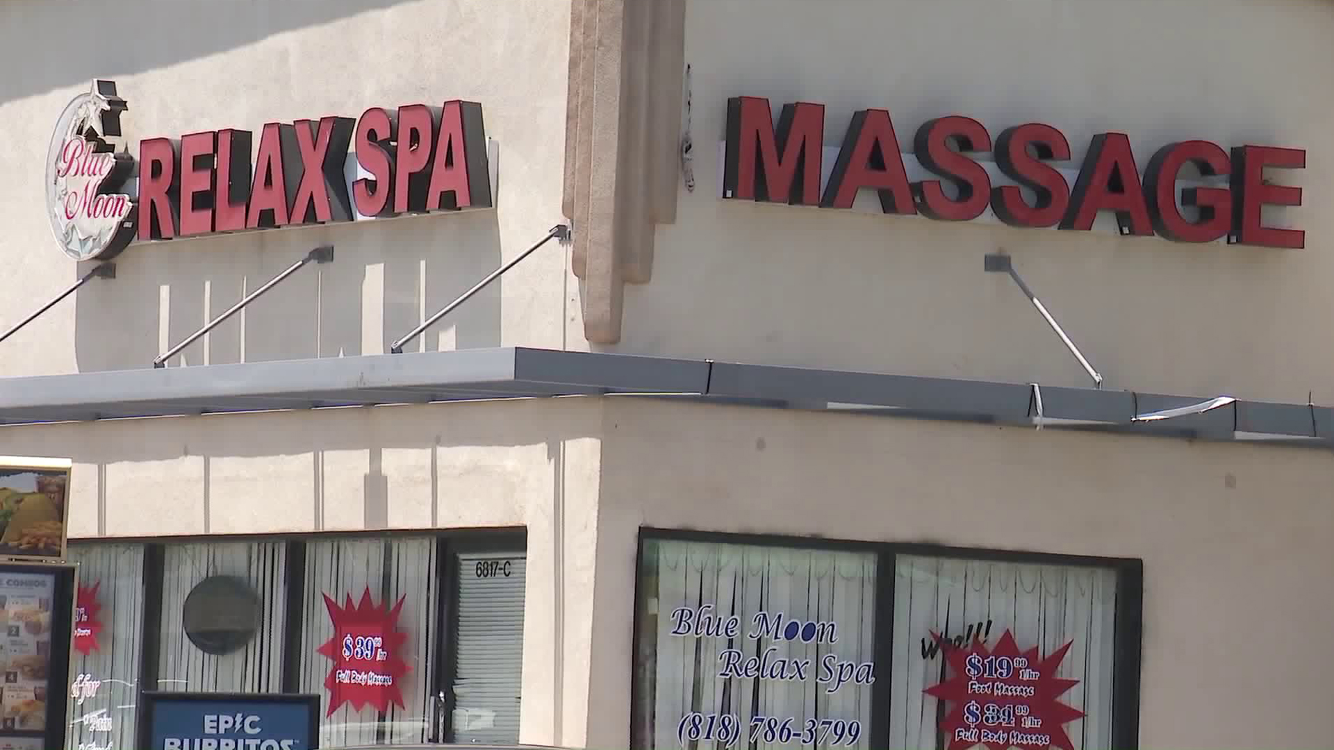 The Blue Moon Relax spa in Van Nuys is seen on May 28, 2019. (Credit: KTLA)
