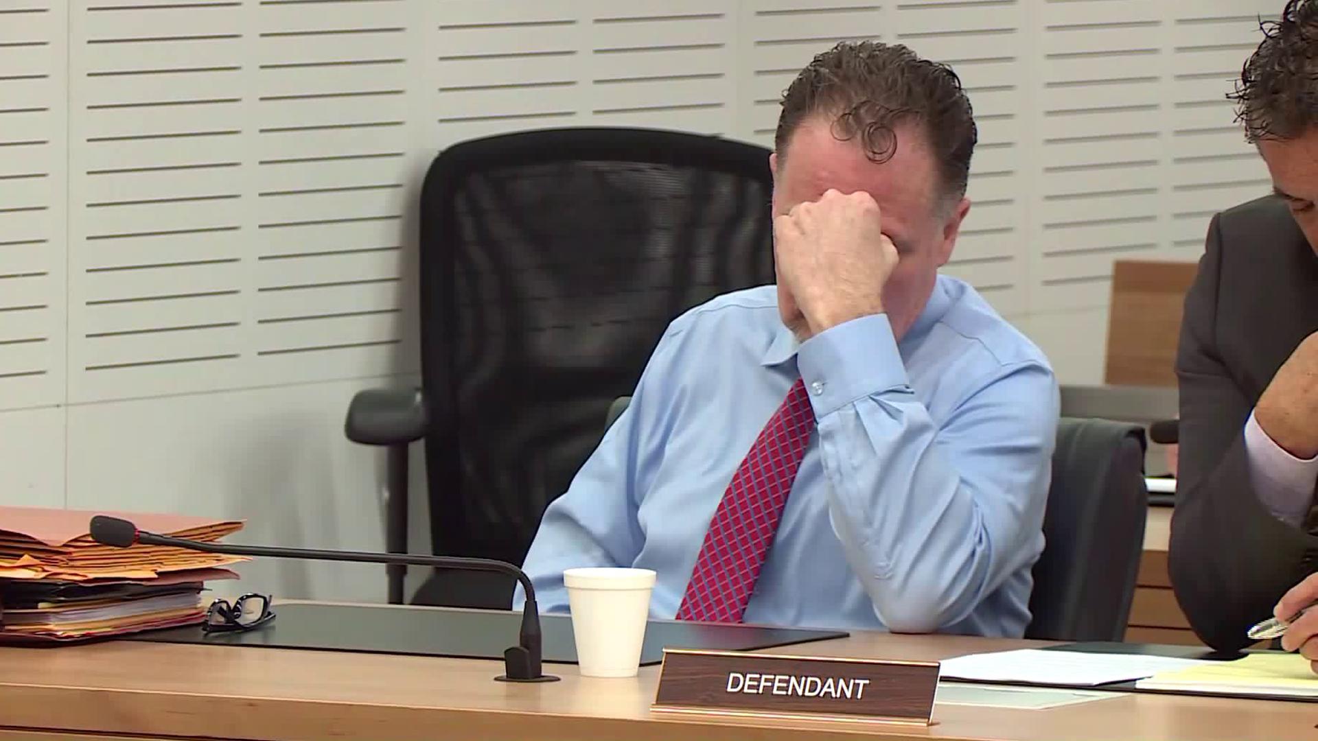Charles Merritt reacts after a San Bernardino recommends he be sentenced to death on June 24, 2019. (Credit: KTLA)