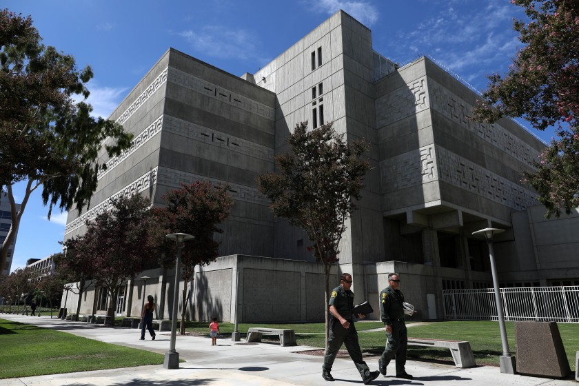 The Central Jail in Santa Ana is seen in an undated photo. (Gary Coronado / Los Angeles Times)