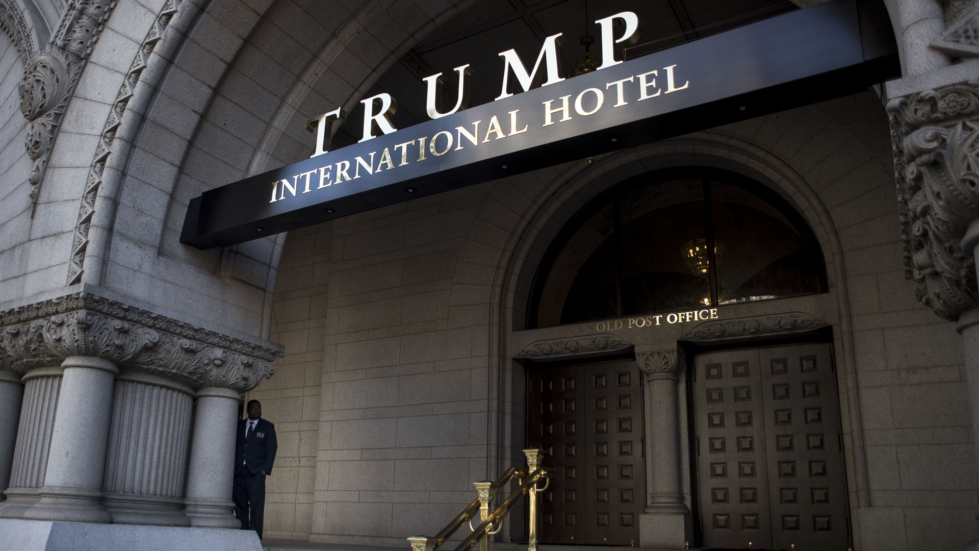 The Trump International Hotel at the old post office is seen on on Oct. 26, 2016, in Washington, D.C. (Credit: Gabriella Demczuk/Getty Images)