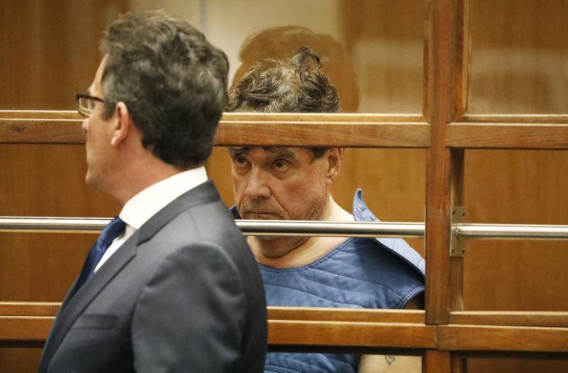 George Tyndall, the former USC gynecologist accused of sexual misconduct, made his first court appearance July 1, 2019, in downtown Los Angeles. (Credit: Al Seib / Los Angeles Times)