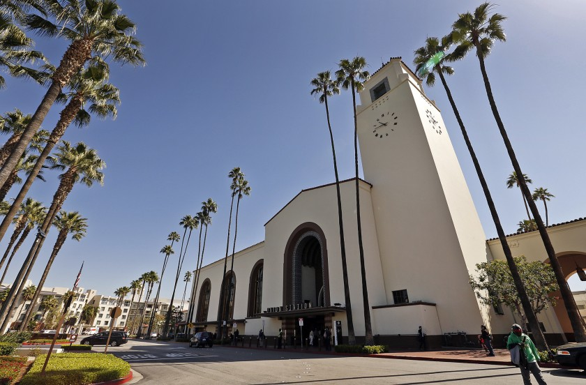 Los Angeles' Union Station is seen in a file photo. (Credit: Al Seib / Los Angeles Times)