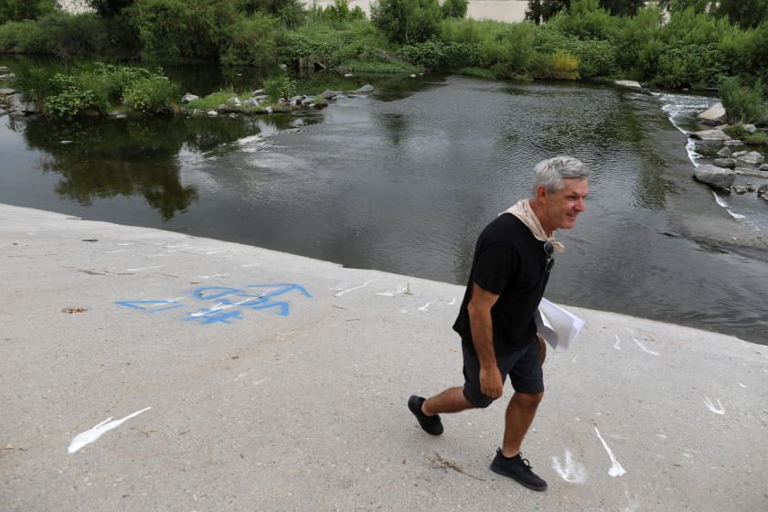 Steven Appleton, seen in this undated photo, bought a parcel of private land that straddles the river in the Frogtown neighborhood.(Credit: Gary Coronado/Los Angeles Times)