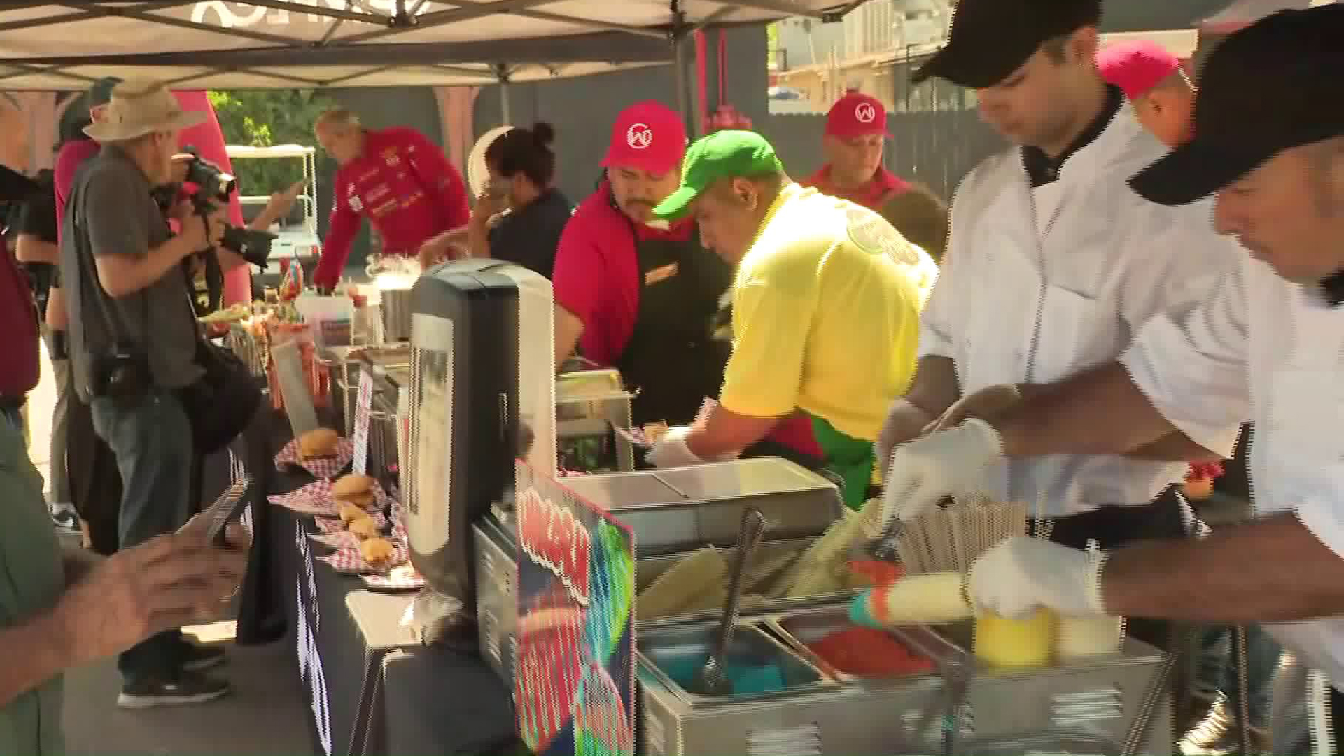 Vendors show off their food offerings ahead of the L.A. County Fair on Aug. 28, 2019. (Credit: KTLA)