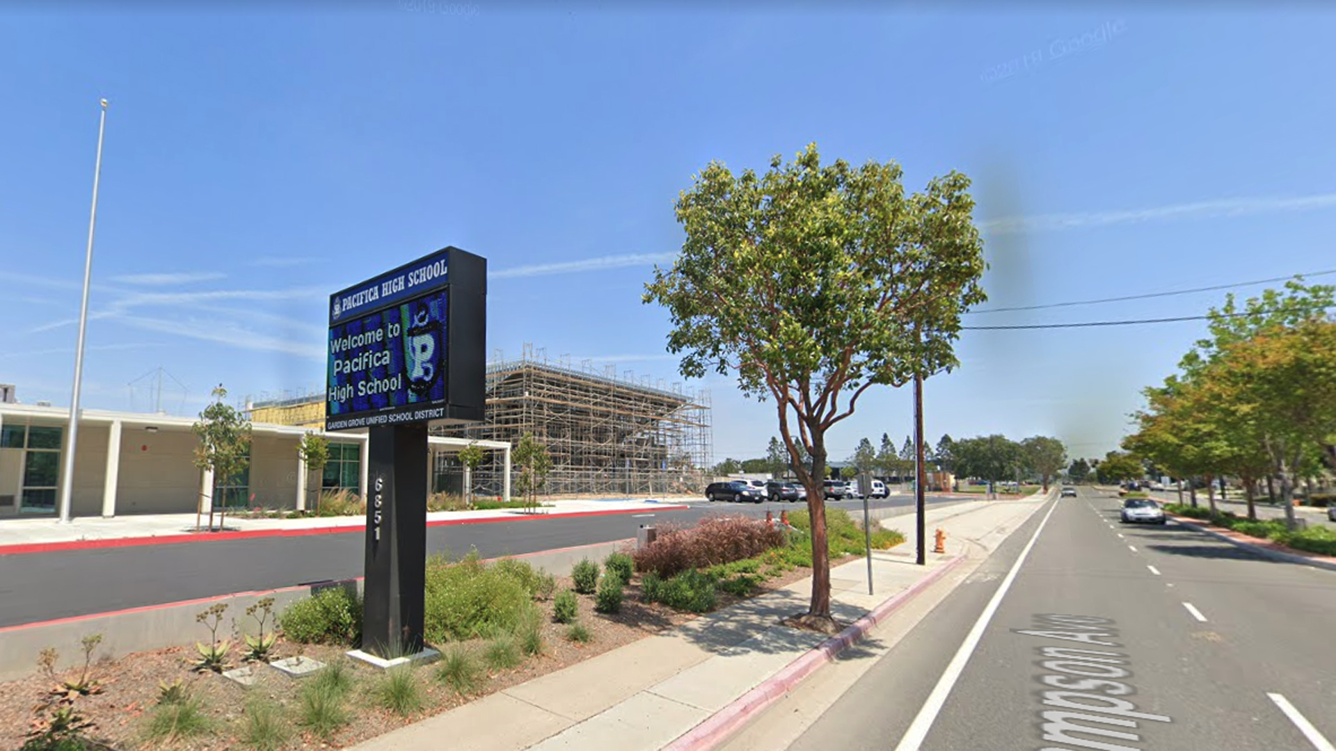Pacifica High School in Garden Grove is seen in an undated image from Google Maps.