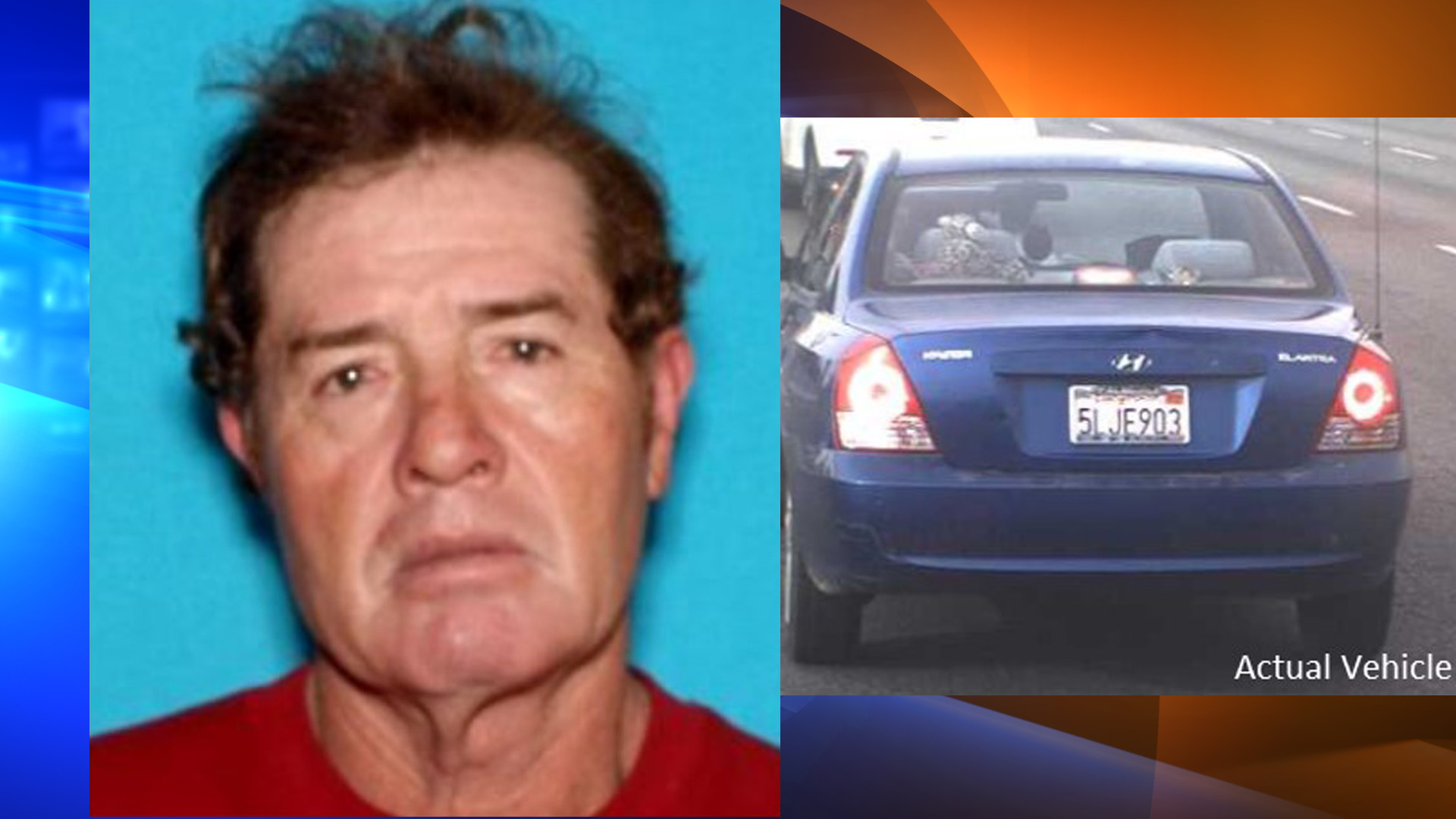 "Trinidad ""Trini"" Garcia and a 2004 blue Hyundai Elantra are seen in these photos from the Los Angeles County Sheriff's Department."
