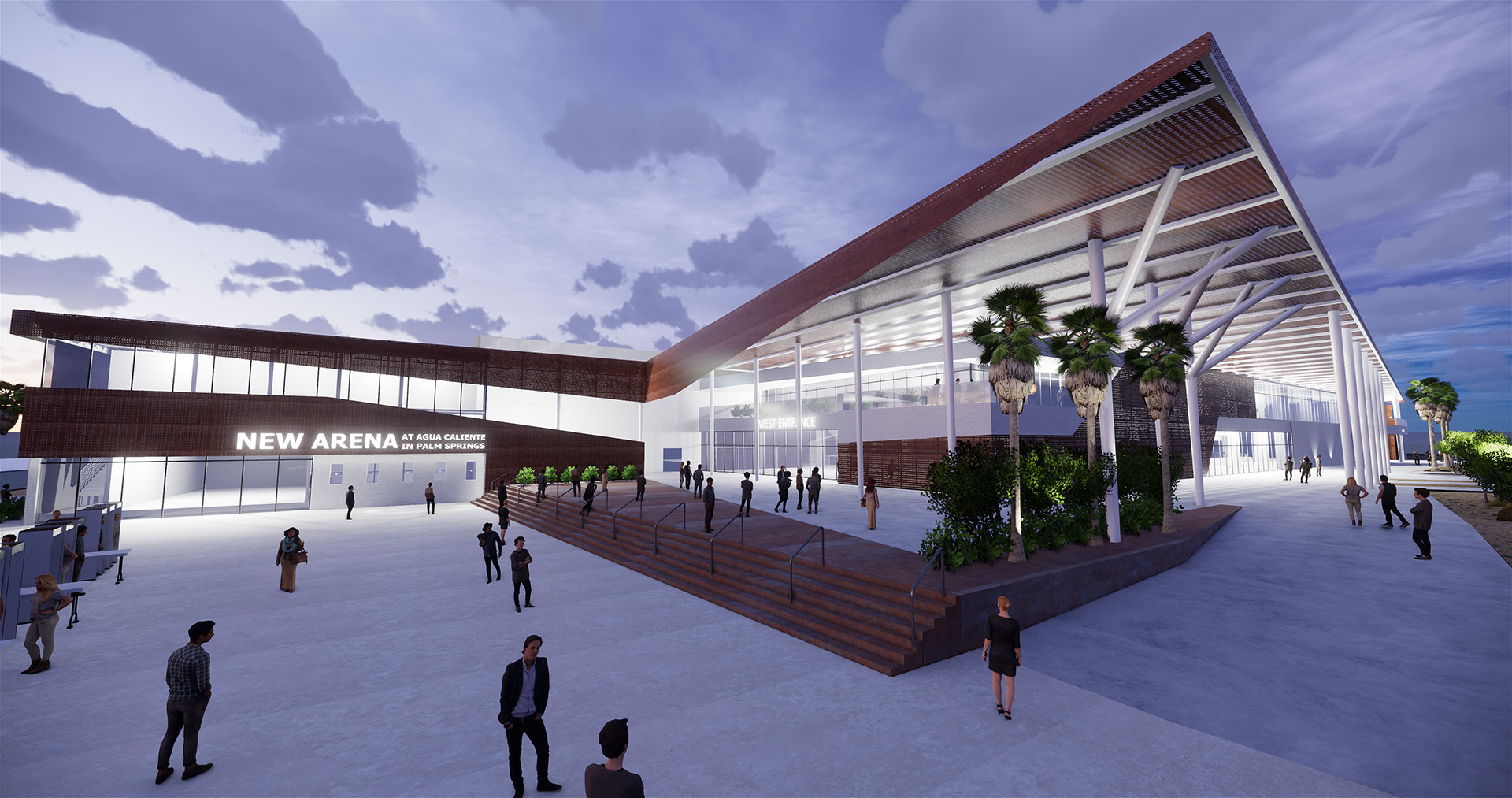 This rendering of the New Arena at Agua Caliente in Palm Springs appears on AHL Palm Springs' website in September 2019.