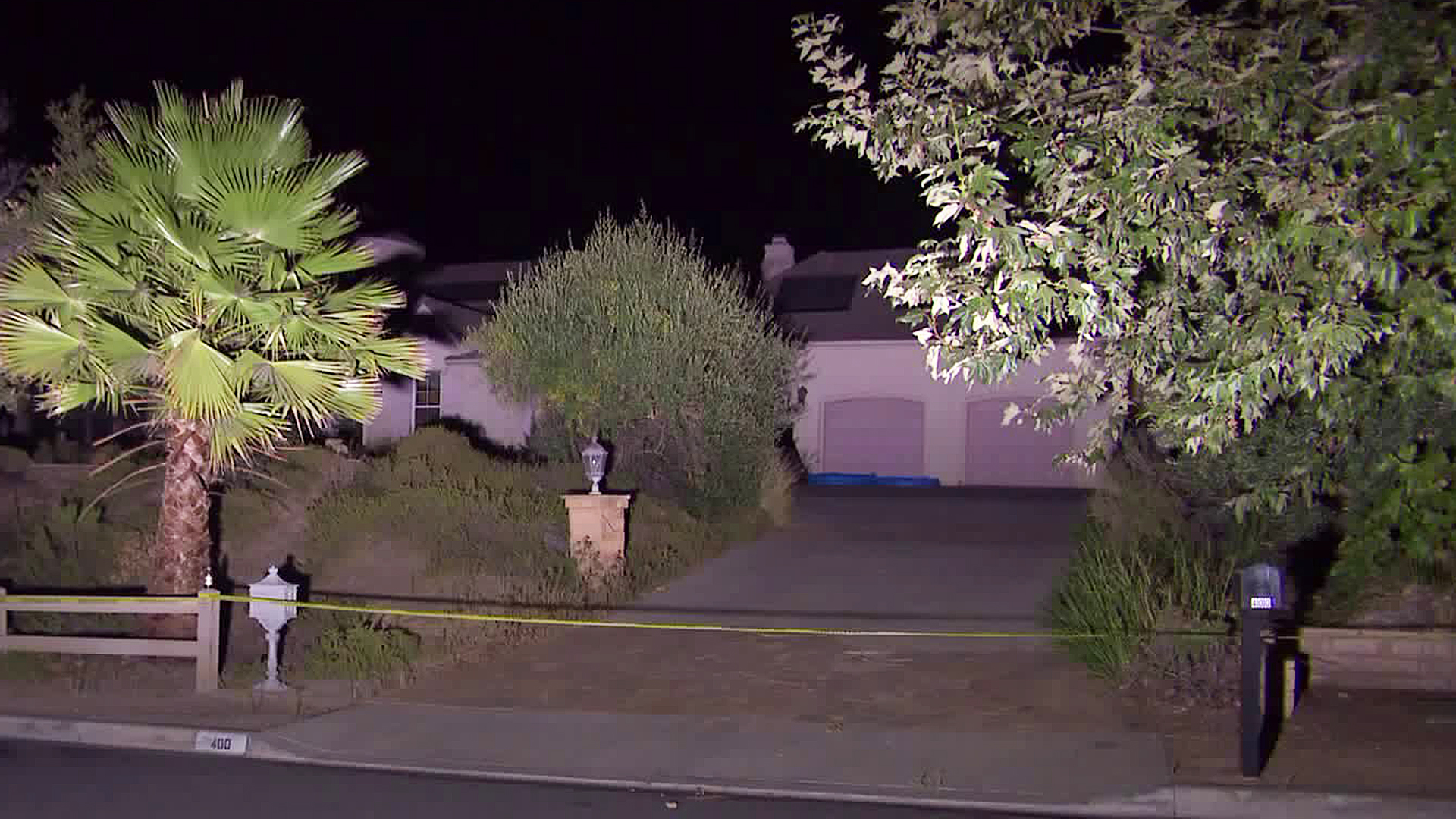 A hazmat crew was called to a home in Newbury Park on Sept. 3, 2019. (Credit: KTLA)