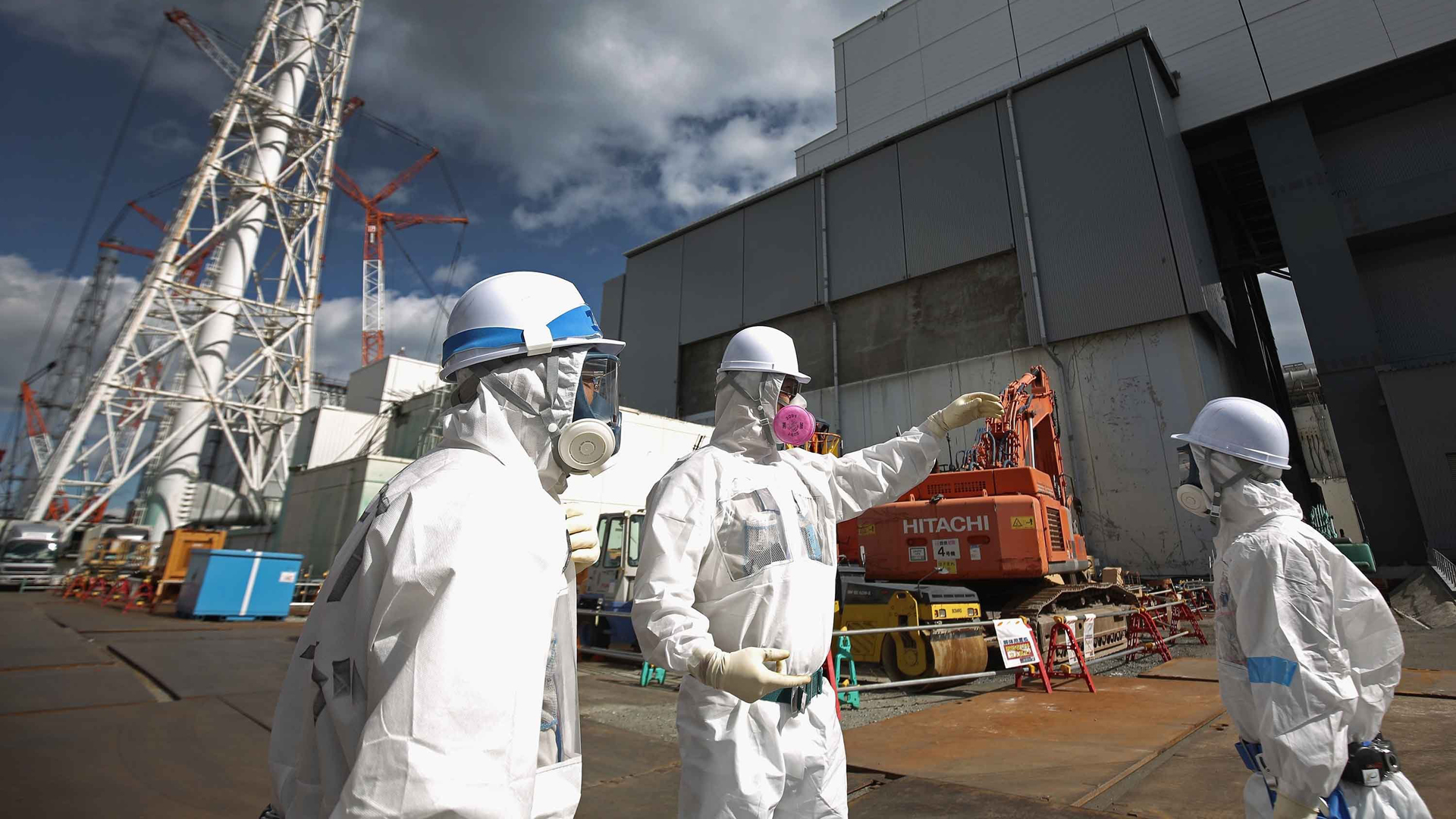 Decontamination efforts around the plant -- pictured here in 2016 -- are expected to take another two years (Credit: Christopher Furlong/Getty Images)