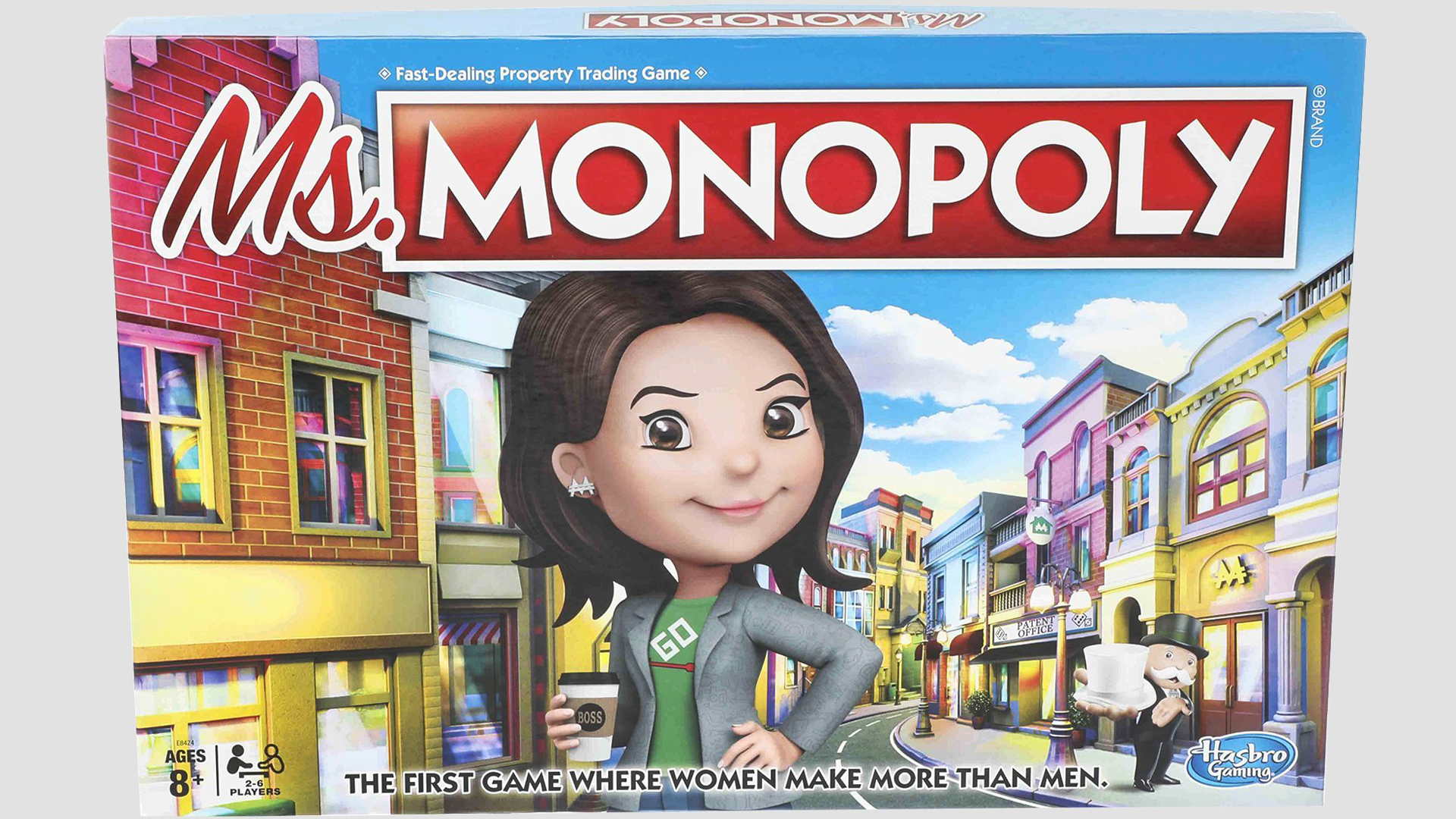 Ms. Monopoly is meant to celebrate women's empowerment by giving women a head start in the game. (Credit: Hasbro)