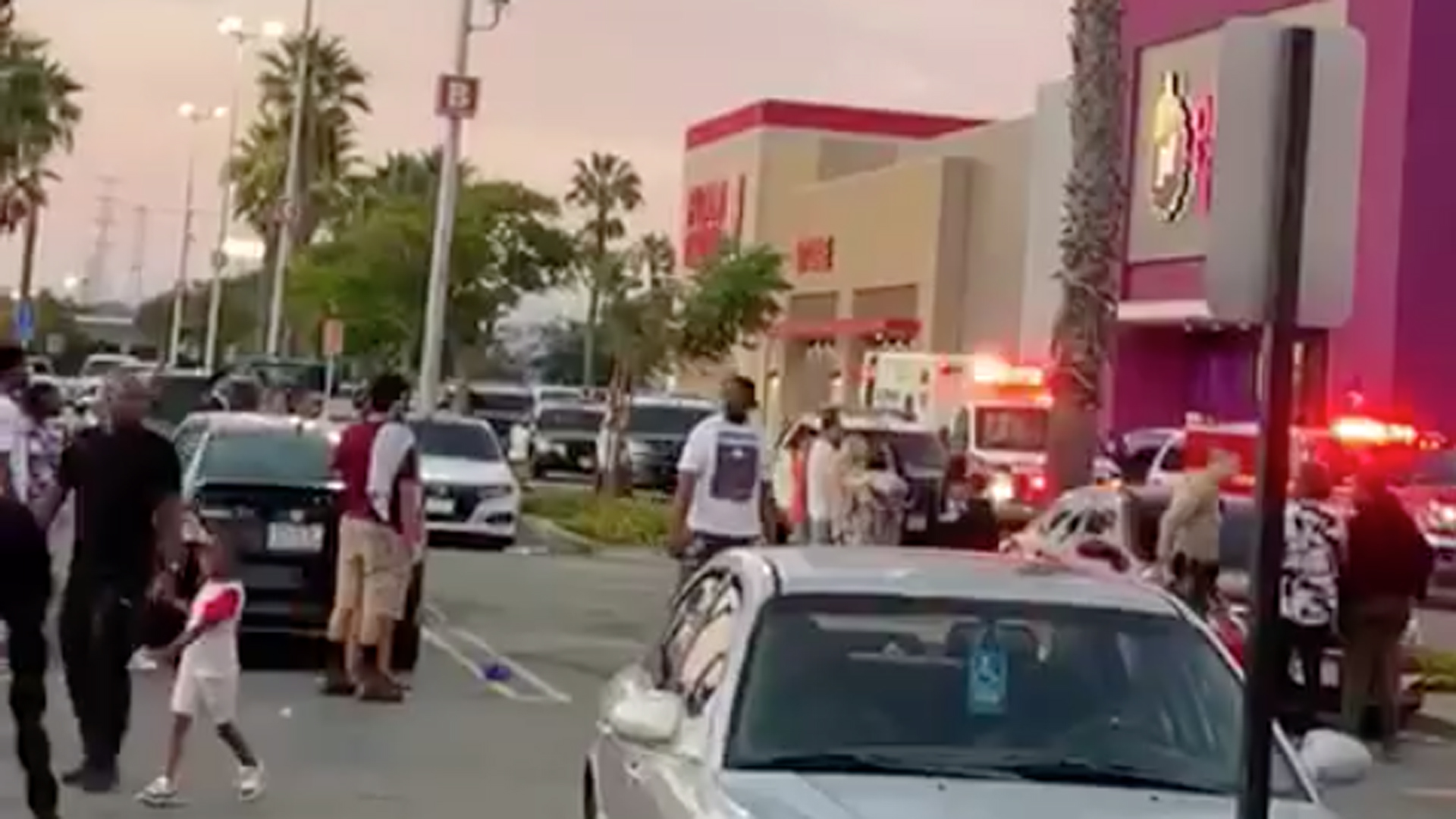 A woman was stabbed at a John's Incredible Pizza Co. location in Carson on Sept. 15, 2019. (Credit: Maria Socorro Mota-Correa)