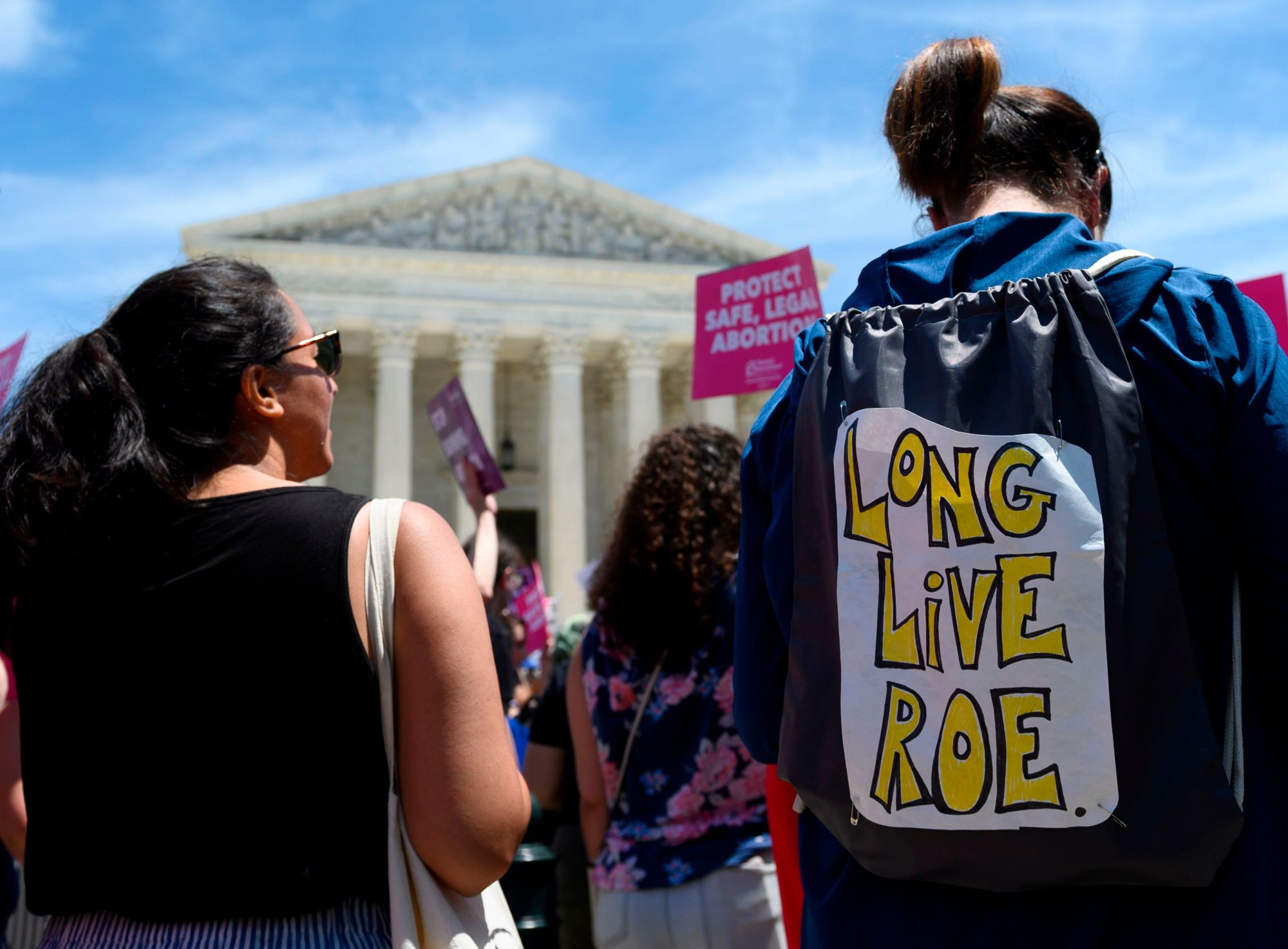 Abortion rights activists rally in front of the U.S. Supreme Court in Washington, D.C. on May 21, 2019. (ANDREW CABALLERO-REYNOLDS/AFP via Getty Images)
