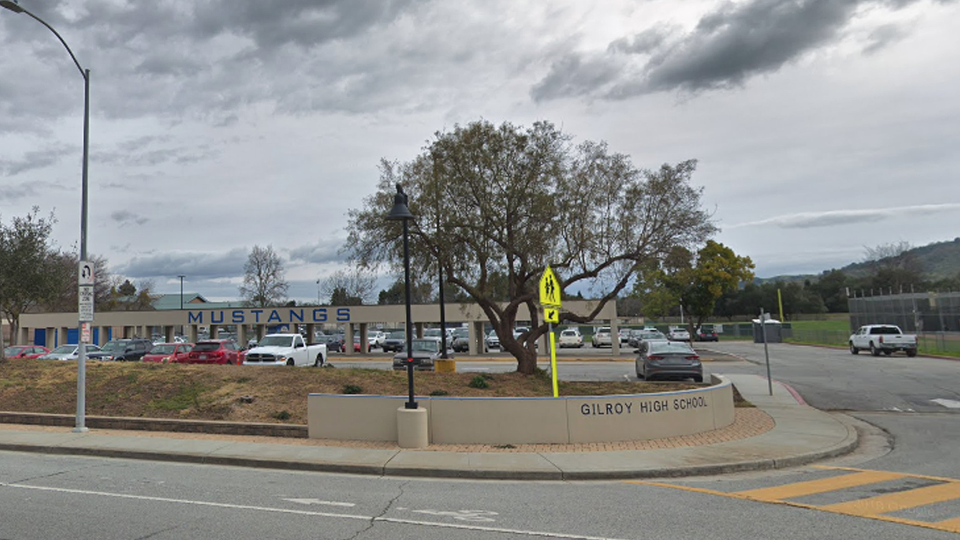 Gilroy High School is seen in a Google Maps Street View image.