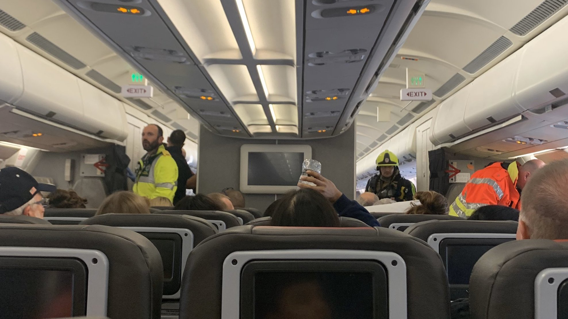 An American Airlines flight from London to Philadelphia landed in Ireland after cleaning chemicals leaked in the aircraft cabin on Oct. 21, 2019. (Credit: Katie Phillips via CNN)