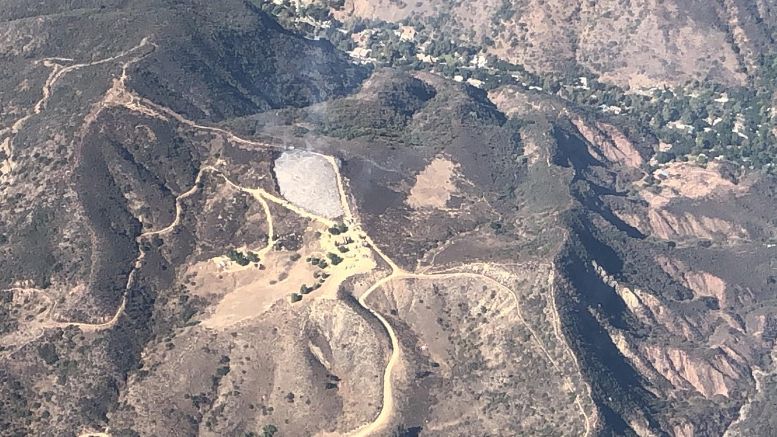 An aerial photo of the Williams Fire released by the Orange County Fire Authority on Nov. 3, 2019.