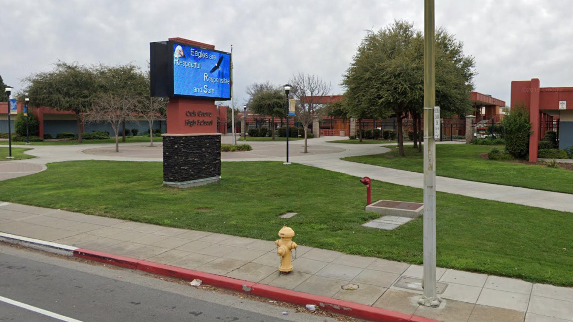 Oak Ridge High School is seen in a Google Maps image.