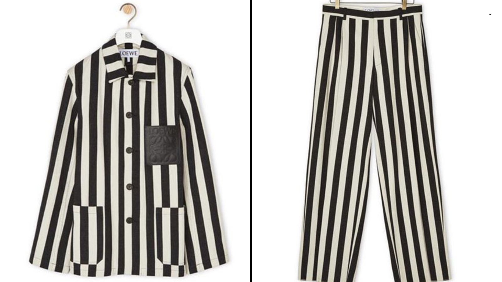The controversial outfit is seen in images posted on Loewe's website. (Credit: Loewe via CNN)