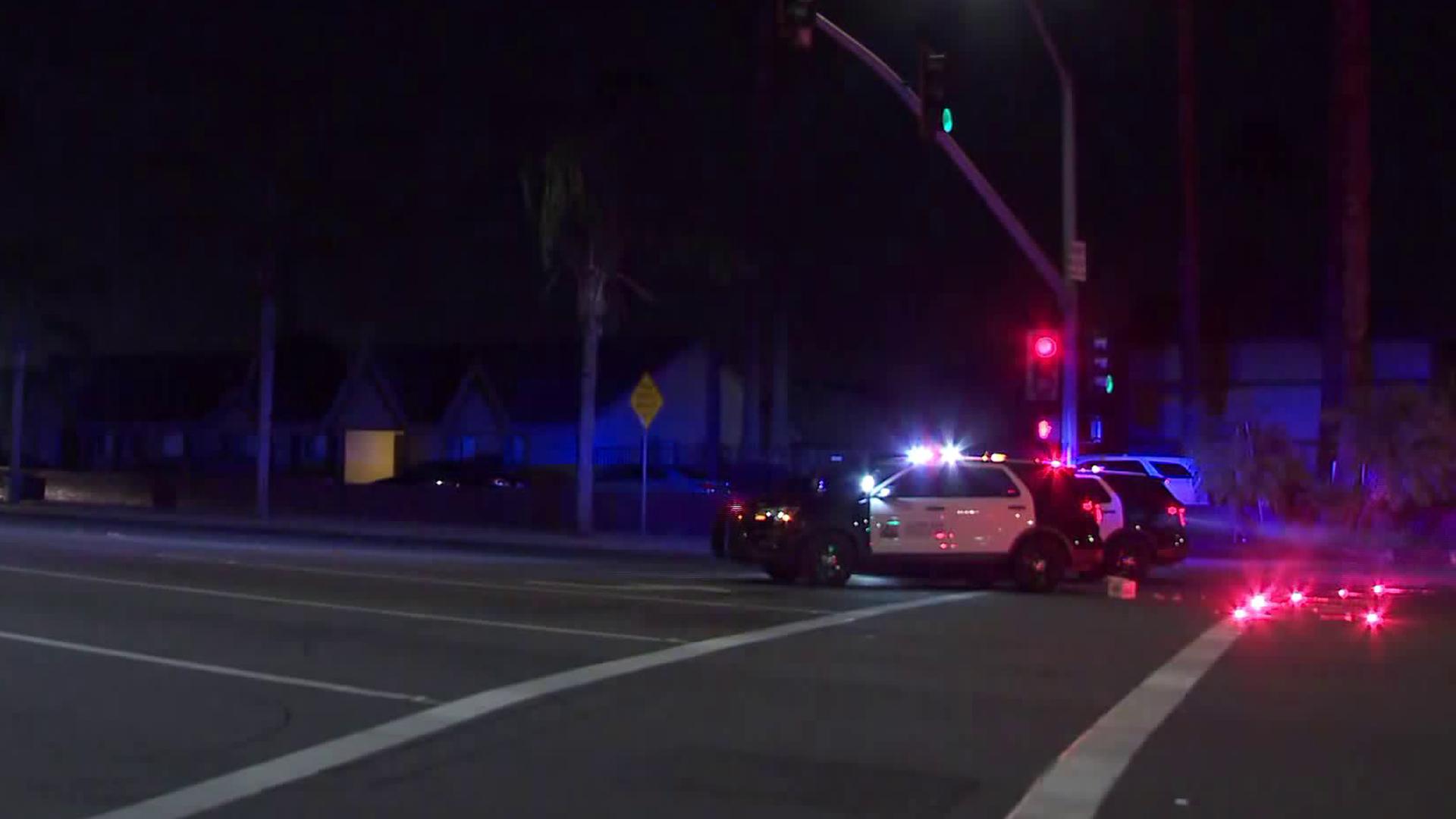 Scene of a fatal shooting in Santa Ana on Nov. 2, 2019. (Credit: KTLA)