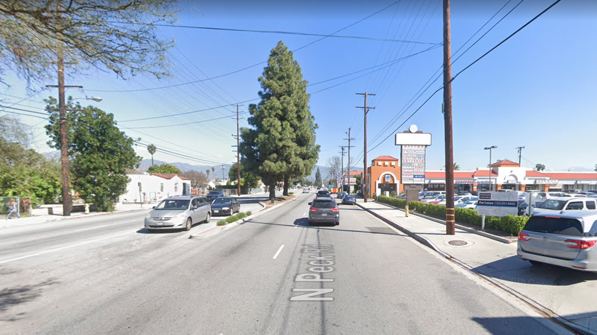 The 4000 block of Peck Road in El Monte, as viewed in a Google Street View image.