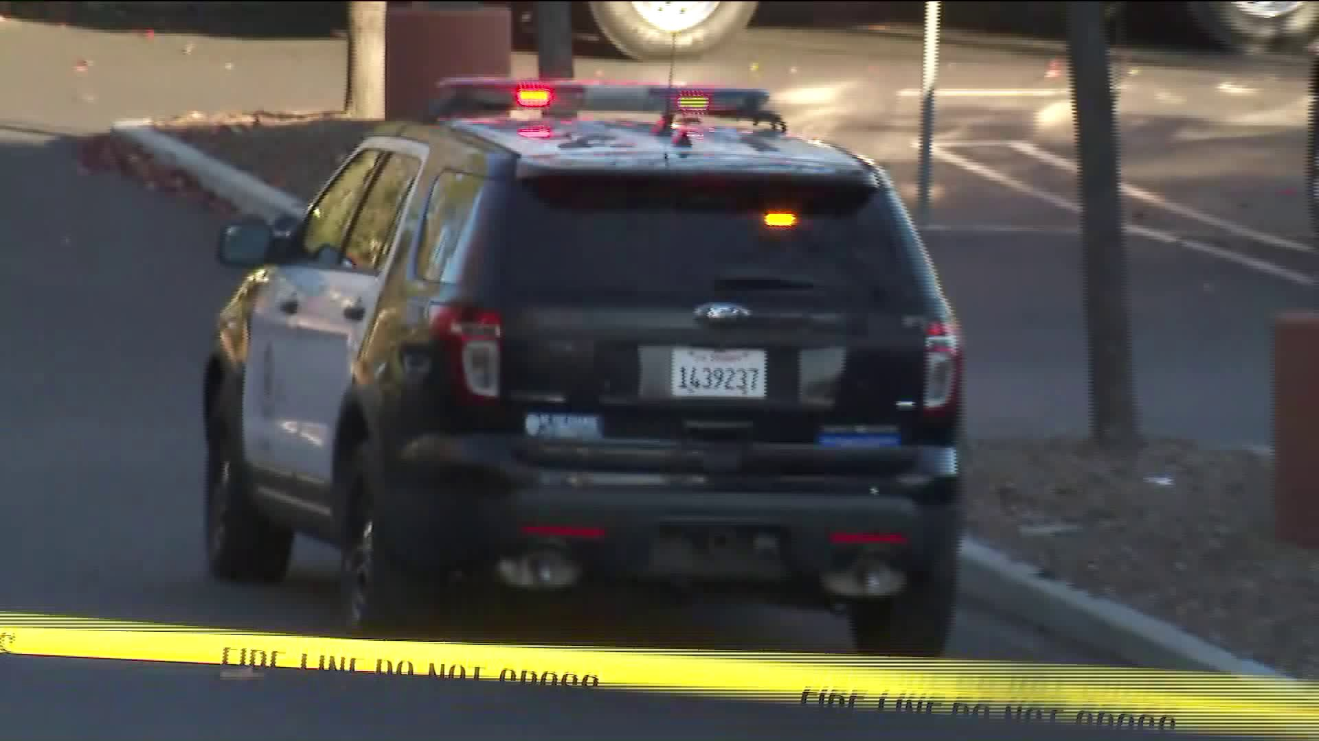 LAPD responded to a hazardous materials incident involving possible fentanyl exposure at a hotel in Woodland Hills on Dec. 31, 2019. (Credit: KTLA)