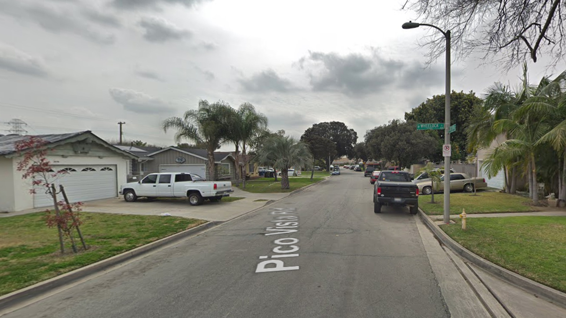 The 7600 block of Pico Vista Road in Pico Rivera, as viewed in a Google Street View image.
