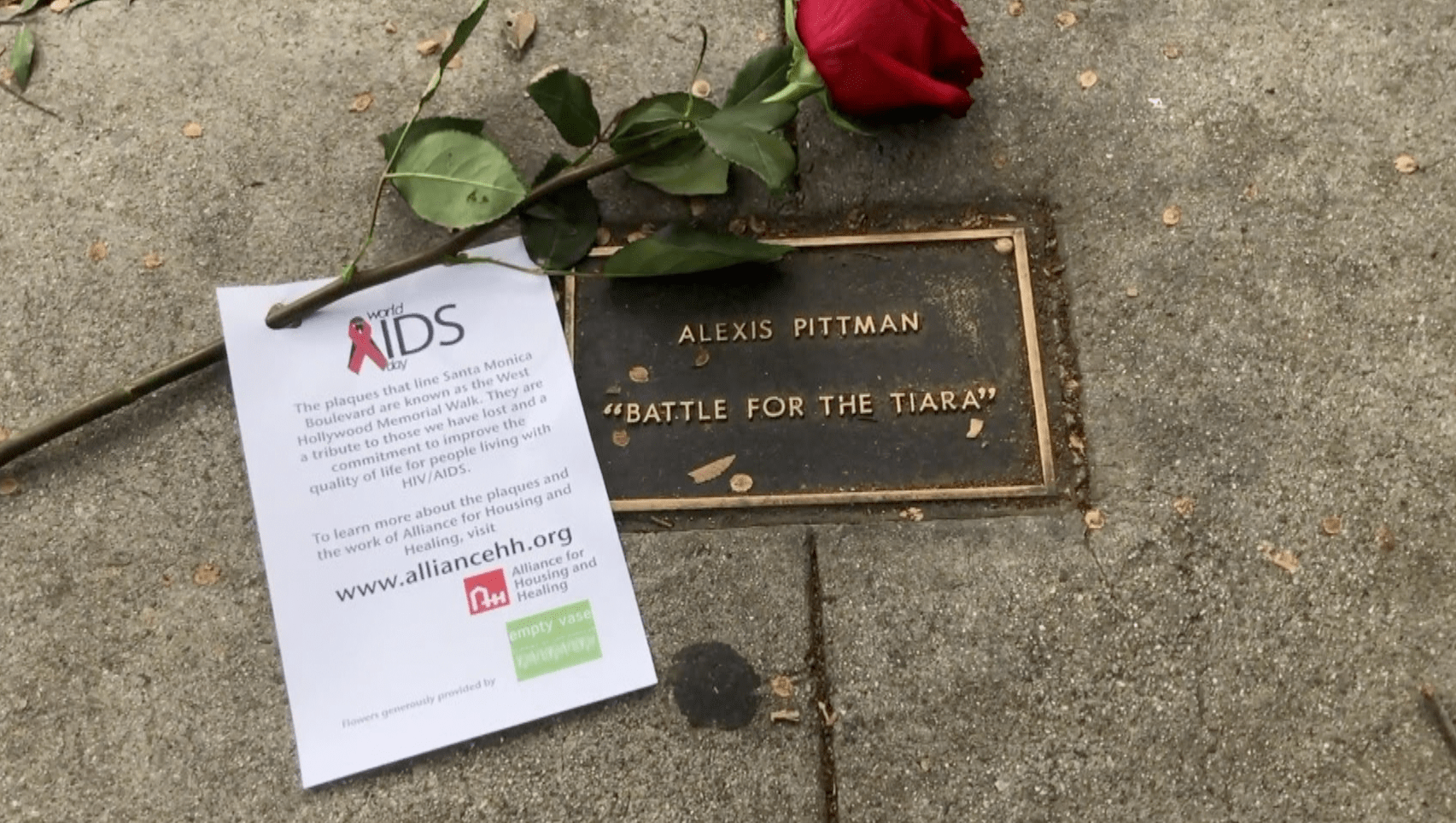 Santa Monica Boulevard on World Aids Day, Dec. 1, 2019. (Credit: KTLA)