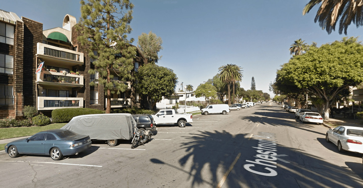 The 700 block of Chestnut Avenue in Long Beach is seen in a Google Maps Street View image.